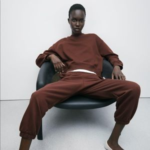 NWT Zara Brown Sweatpants
